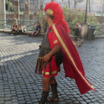 Street actors -Roman Gladiator