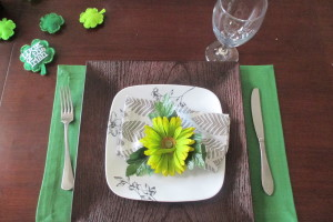 Fresh green table setting