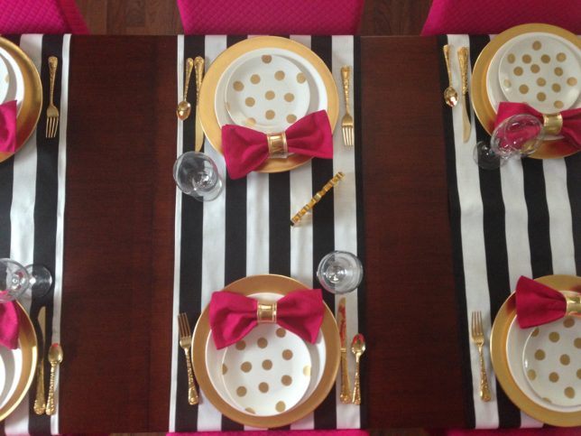 Kate Spade Table setting likeness