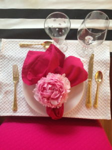 Kate Spade simple dessert place setting